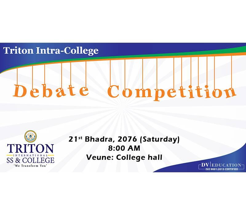 Triton Intra-College Debate Competition 2076