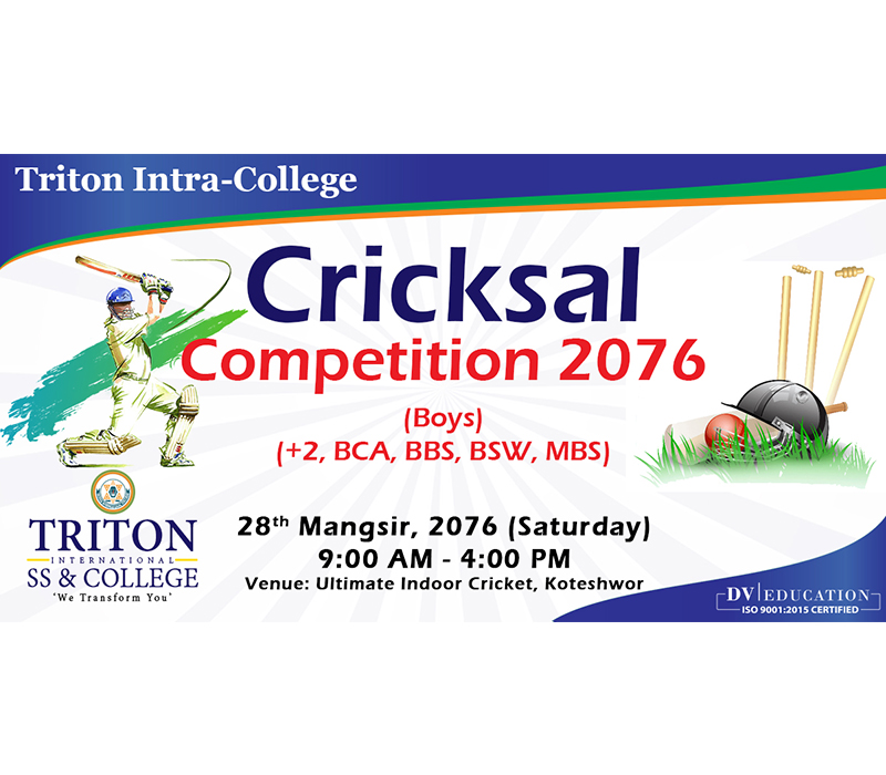 Intra College Cricksal Competition