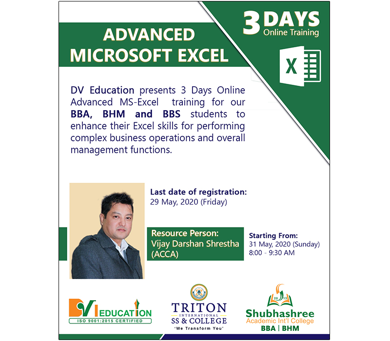Advanced MS Excel Online Training