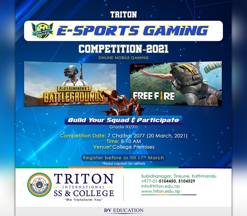 Triton E-Sports Gaming Competition 2021