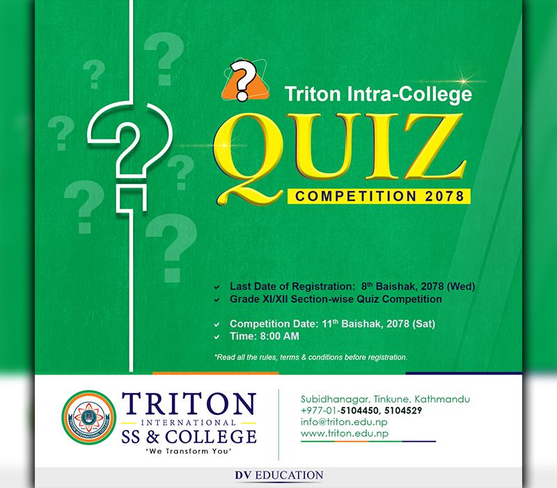 Triton Intra-College Quiz Competition 2078