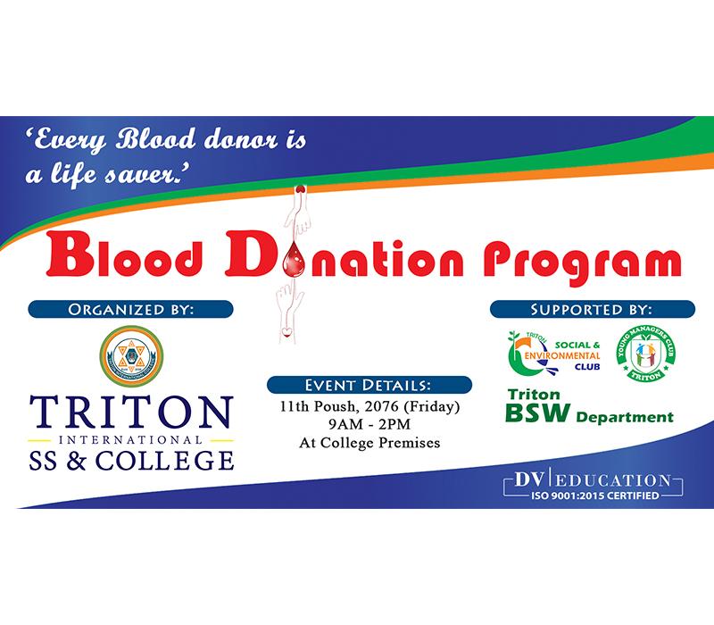 Triton Blood Donation Program 2076