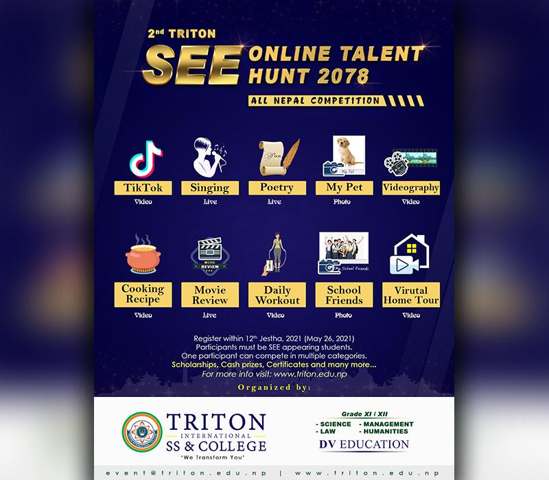 2nd Triton SEE Online Talent Hunt 2078